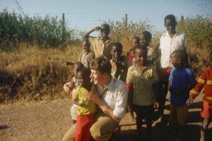 Pater Florian bei einem seiner ersten Besuche in Kenya