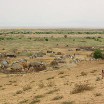 Nomadenhütten im Ort Illeret